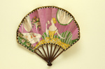 Folding fan advertising Flornicia perfume for Larbalastier; Eventails Chambrelent, Maurice Motet; c.1920s; LDFAN2007.31