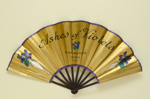 Folding fan advertising Ashes of Violets perfume, Bourjois; LDFAN2007.11.HA