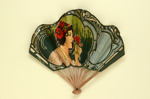 Advertising  fan for kitchen appliances, 'Hachoir Universal', 'Sorbetière Américaine Gem' and 'Patissière Universal'; c. 1905; LDFAN2003.399.HA