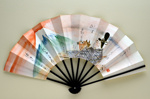 Folding fan advertising Japan Air Lines. ; c. 1960s; LDFAN1991.31