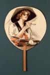 Advertising fan for Morgan-Miller Drug Company, PA, USA; Morgan-Miller; c. 1900; LDFAN2003.104.Y