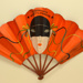 Advertising 'mask' fan for Moet & Chandon champagne ; Ganné, J; c.1930; LDFAN2003.423.HA