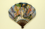 Folding fan advertising Royal Origan perfume, Galeries Lafayette; Jean Gabriel Domerque; c. 1921; LDFAN2007.12.HA