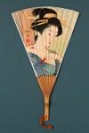 Advertising fan for Suehiro restaurant; LDFAN1996.15