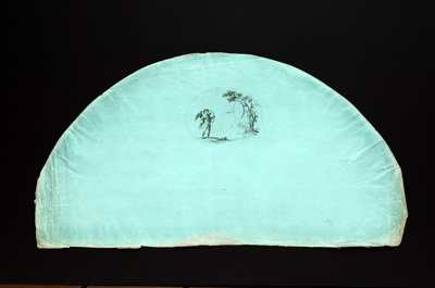 English Fan Leaf ; 1790s; LDFAN1990.25