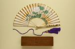 Folding Fan & Box; c. 1910; LDFAN2010.13.A & LDFAN2010.13.B
