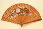 Wooden Brisé Painted Fan; c.1890; LDFAN2010.121