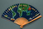Folding fan advertising British Overseas Airways Corporation (BOAC) ; 1960s; LDFAN2003.41 INCORRECT