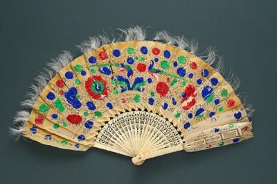 Feather Fan; c. 1860; LDFAN2010.59