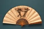 Advertising fan for Restaurant Knickerbocker; Buissot Eventails; c. 1910; LDFAN2003.94.Y