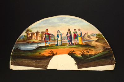 English Fan leaf ; c.1800; LDFAN1990.18