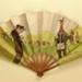 Advertising fan for Heidsieck Dry Monopole champagne; Auteuil racecourse; Eventails Chambrelent; Draeger; SEM; c. 1910; LDFAN1998.18