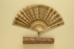 Folding Fan & Box; c. 1905; LDFAN2003.263.Y.A & LDFAN2003.263.Y.B