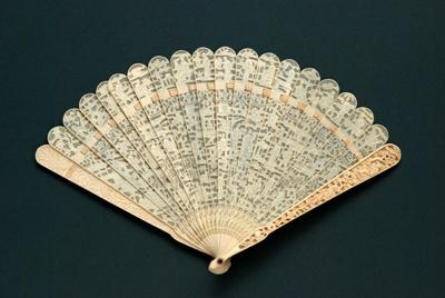Ivory Brisé Fan, Chinese; c.1830; LDFAN2005.3