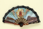 Folding souvenir fan for Gibraltar; c. 1980s; LDFAN2003.465