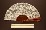Folding Fan & Box; c. 1890; LDFAN1998.8.1 & LDFAN1998.8.2