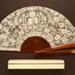 Folding Fan & Box; c. 1888-90; LDFAN1998.8.1 & LDFAN1998.8.2