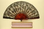 Folding Fan & Box; c. 1900; LDFAN2011.112.A & LDFAN2011.112.B