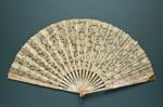 Folding Fan & Box; c. 1890; LDFAN2009.47.A & LDFAN2009.47.B