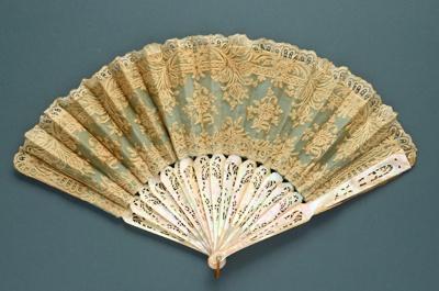 Folding Fan; c. 1860; LDFAN2003.15.Y