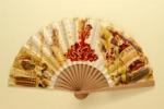 Folding fan advertising Dry Sack Jerez sherry; c. 1960s; LDFAN1994.55