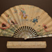 Folding Fan & Box; c. 1895; LDFAN2006.55.A & LDFAN2006.55.B