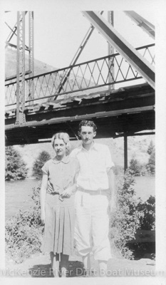 Prince and Marjorie Helfrich in 1930; 1930; McKenzie River-Dave Helfrich-067