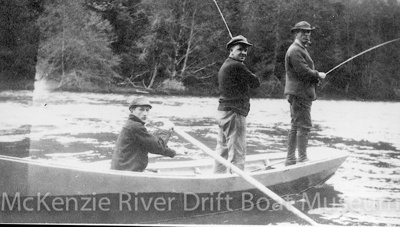 Prince Helfrich at 16 with family friend & Ben Helfrich. 1926; 1926; McKenzie River-Dave Helfrich-065