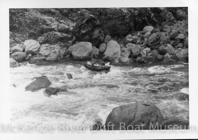 Blossom Bar Rapids; 1940's; McKenzie River-Dave Helfrich-086