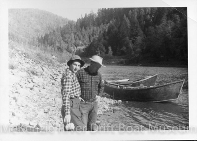 Prince Helfrich and Evelyn Haas; Copyright- Dave Helfrich; McKenzie River-Dave Helfrich-089