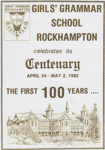 Flyer for School Centenary 1992; Unknown; 1992; RGGS 2016/053