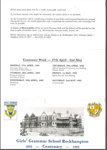 RGGS Centenary Programme and Registration; Unknown; 1992; RGGS 2016/056