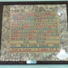 Framed sampler,  cross stitch,  ; Iris Pratt; 1986; 200800051