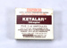Agent, Ketalar, Ketamine; Parke-Davis Pty. Ltd. 32 Cawarra Road Caringbah, NSW; Prior to September 1987; 2007.071