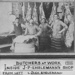 Photograph of Butchers at work in J P Engelmann's Butcher Shop in Cleveland; 1916; P42.1