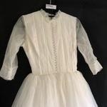 Wedding gown, hat & veil; Annette Gowns; 1963; R17060