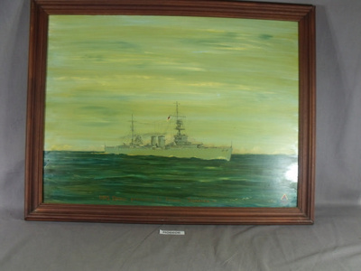 Painting, oil - HMS Danae; N. WILLS; 1982; R06606