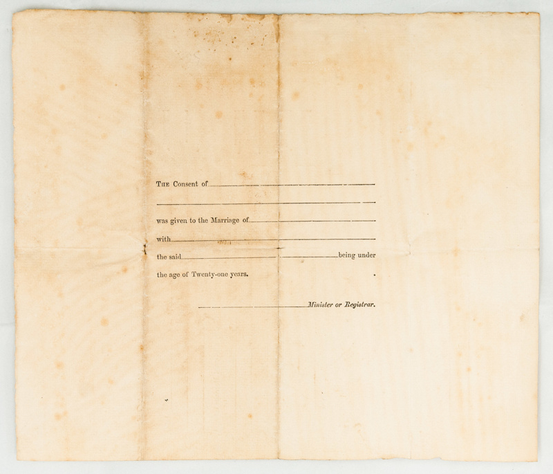 Harriet Wren marriage certificate; Andrew Gardiner M.A. Minister ...