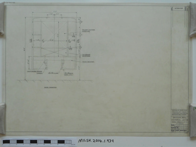 DETAILS OF REAR END FRAMING FOR MOBILE WORKSHOP MOUNTED ON BEDFORD K.G. CHASSIS; 26.01.1973; MILSH:2014.1.939
