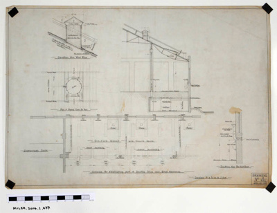 Scheme for Ventilating part of Smiths Shop near Drop Hammers.; 22.06.1915; MILSH:2014.1.477