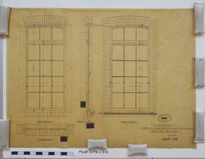 L.&.N.W.R.CO. DETAIL OF WINDOW FOR NEW ELECTRIC POWER HOUSE.   ; 08.11.1900; MILSH:2014.1.316