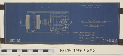 "Blue print of 6"" II Stage Centre Pump ; Frank Pearn & Co. Ltd; 25.03.1930; MILSH:2014.1.505"