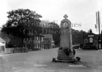 The cenotaph in Woburn Sands in its original location at the junction of Woburn Road, Aspley Hill, Church Road and Hardwick Road.