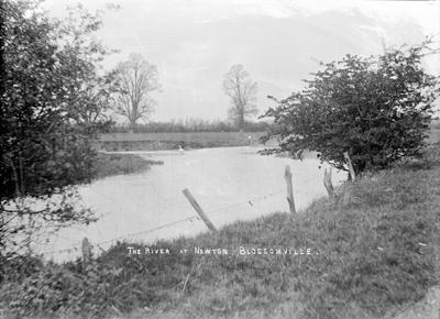 The River at Newton Blossomville; Kitchener, Maurice; 1925 to 1936; KIT/17/129