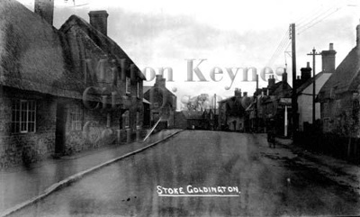 High Street, Stoke Goldington, with The Lamb pub on the right