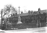Wolverton Square with the original War Memorial