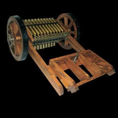 Triple Tier Machine Gun; Leonardo Da Vinci, Roberto Guatelli; UTS1477