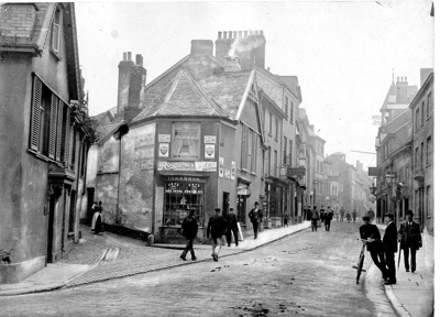 High Street from Northgate, Barnstaple; 1890-1910; 232