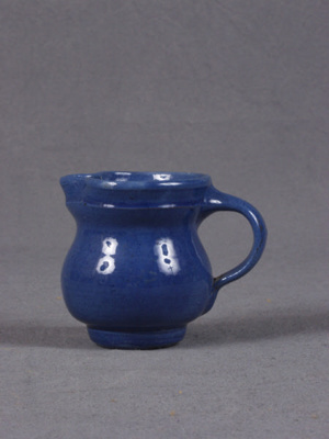Small blue jug; 1992