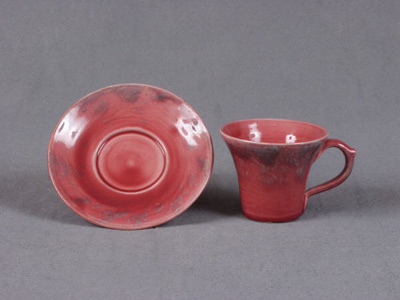 Cup and saucer : part of coffee set (model 456) by Baron; 1991